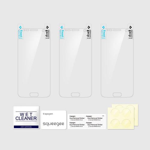 samsung galaxy s7 spigen protector pantalla crystal x 3 pack