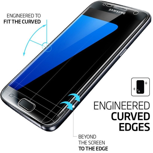 samsung galaxy s7 spigen protector pantalla curved x 3 pack
