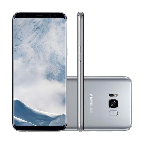 samsung galaxy s8+ 6.2in 64gb câmera 12mp+8mp prata