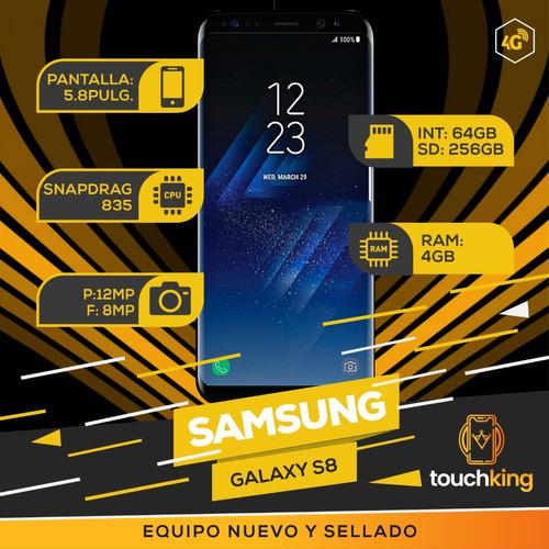samsung galaxy s8 64gb ram 4gb libre d fabrica sellad- negro
