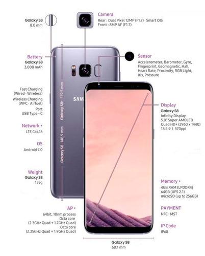 samsung galaxy s8 dual chip 64gb g950 original  nf + brindes
