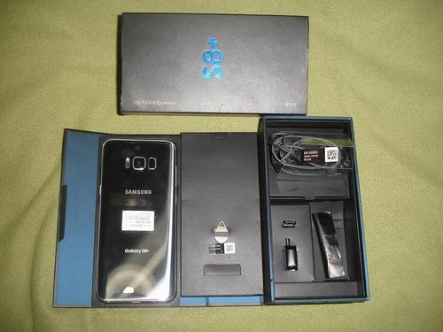 samsung galaxy s8 plus + caja + accesorios + garantia!!!
