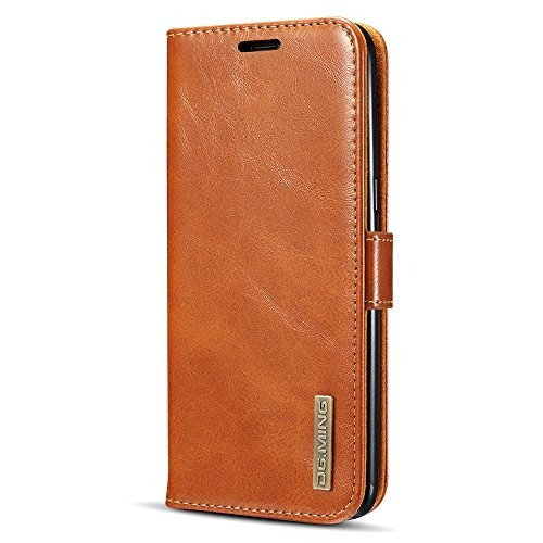 samsung galaxy s8 plus funda de cuero genuino cartera caja d
