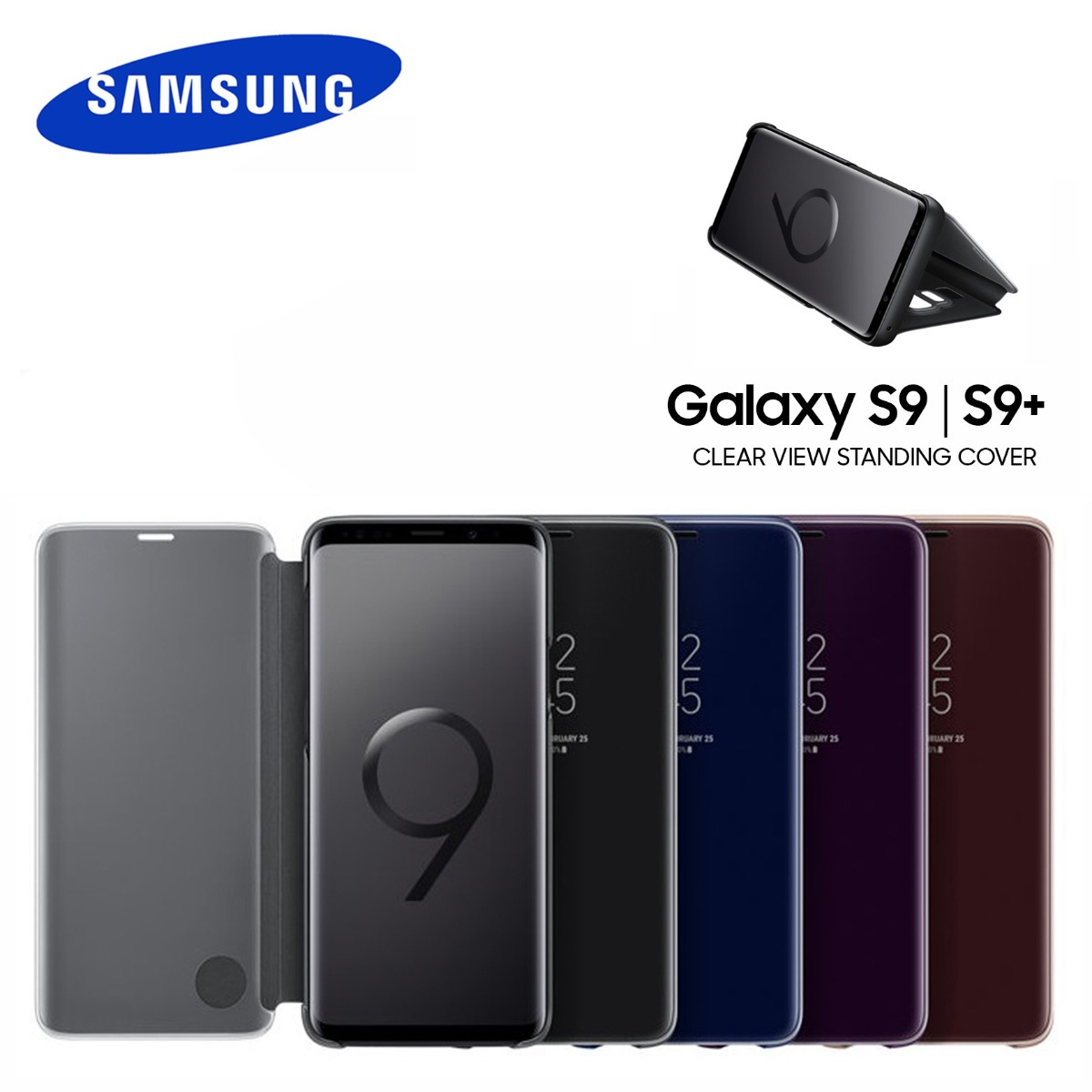 d495ed37425 samsung galaxy s9 & plus funda flip cover s-view original. Cargando zoom.