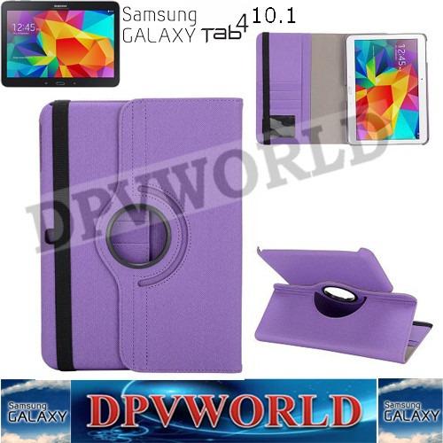 samsung galaxy tab 4 10.1 t530/1 t535 estuche cuero giratori