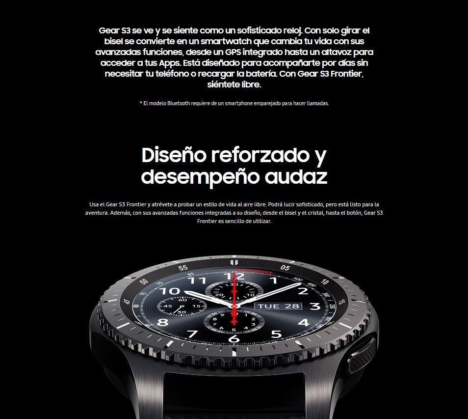 a82625d8e7e9 Reloj Smart Watch Samsung Gear S3 Frontier -   5