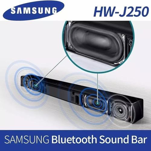 samsung hw-j250 soundbar caixa som tv smart sd usb bluetooth