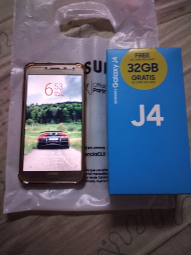 samsung j4 (85d) 32gb, 2gb ram, vidrio templado, forro, caja