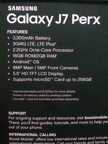 samsung j7 perx 5,5  android  ram 16gb
