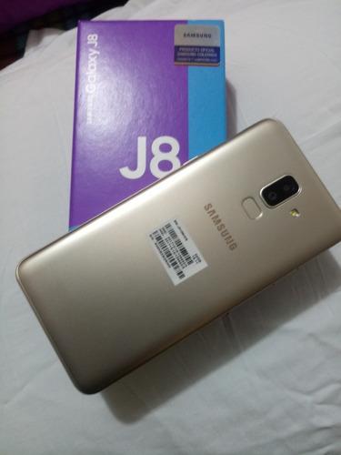 samsung j8 dorado nuevo dual sim huella negociable +obsequio