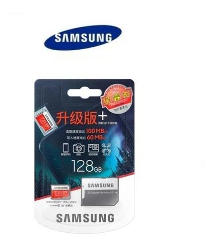 samsung original micro sd 128 gb - clase 10 - 100 mb/s