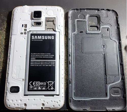 samsung s5 grande (huella dactilar) + cargador y cable