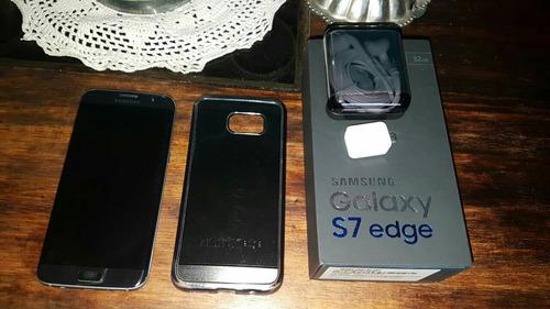samsung  s7 edge  2 meses de uso con estuche y accesorios