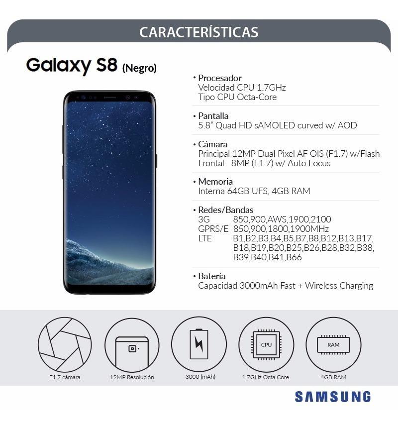 Samsung S8 Ds Negro Lte Original Liberado Rom 64gb 13mp