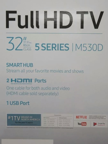 samsung smart tv 32 pulgadas full hd