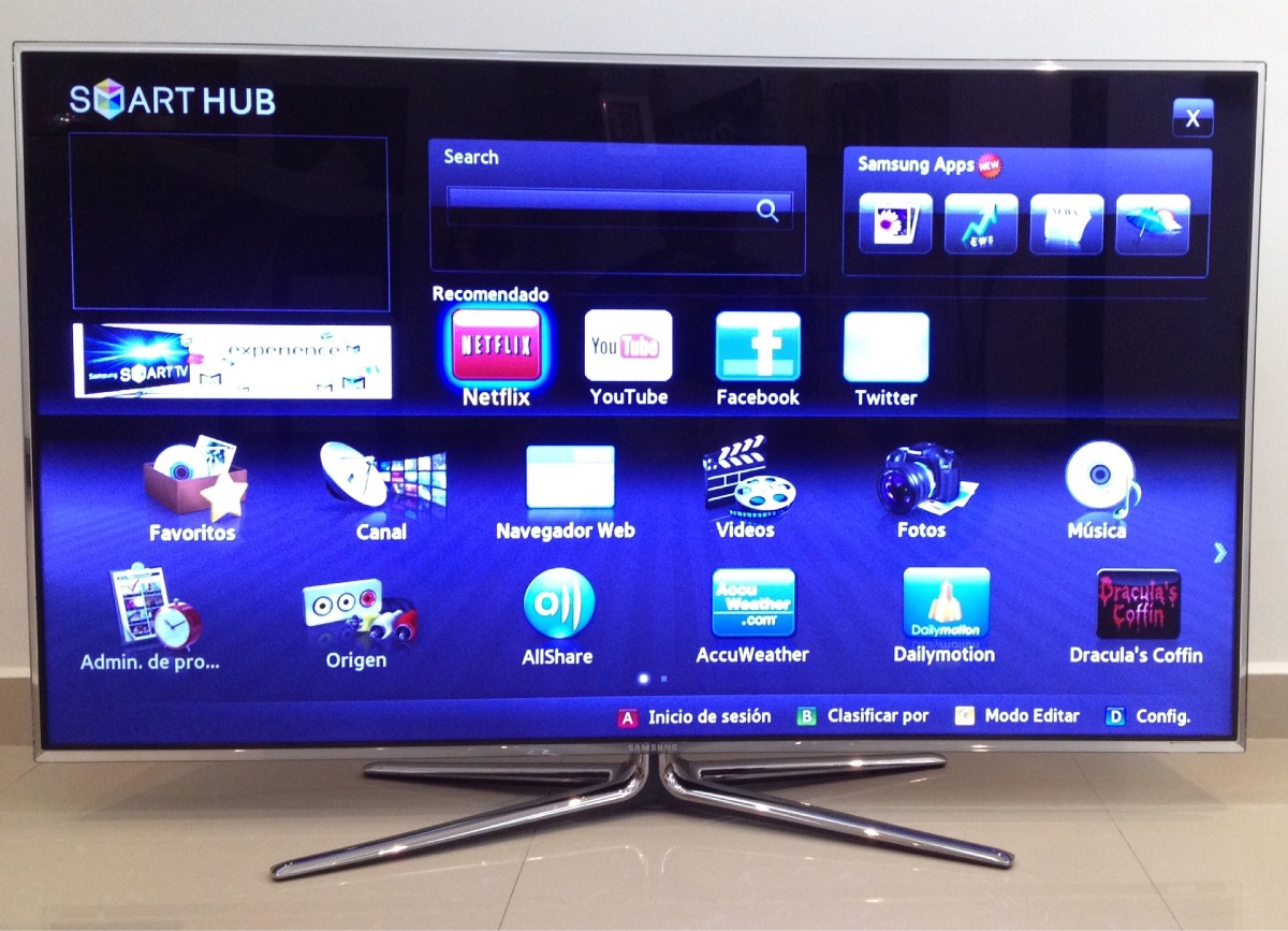 1f1869a6a samsung smart tv 3d de 55 serie 7050. Cargando zoom.