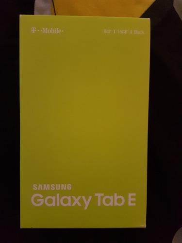 samung galaxy tab e tablet celular 16gb nueva. modelo 2016