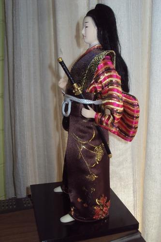 samurai hermosa figura de decoración