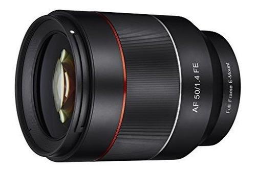 samyang syio50af-e 50 mm f1.4 marco completo de la lente de