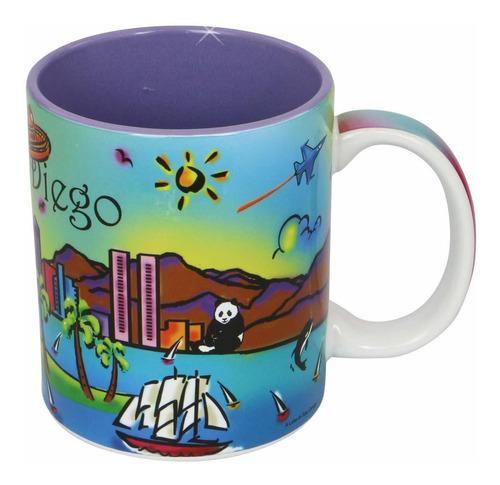 san diego taza de café neón arco iris 110zsdmugola