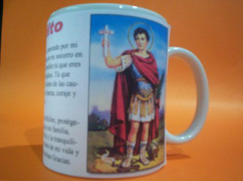 san expedito taza con foto y oracion $ 135