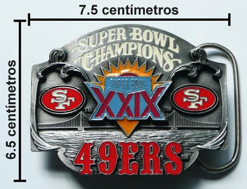 san francisco 49ers campeones nfl super bowl 29 hebilla