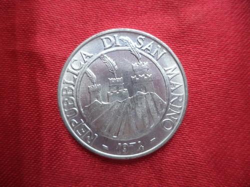 san marino 10 liras 1975