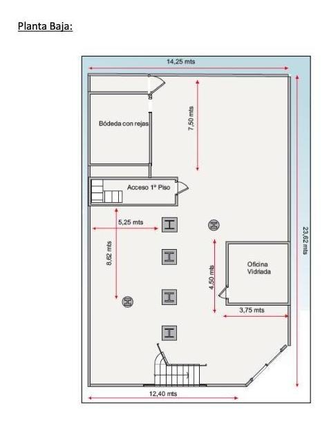 san martin al 1900 esq calle 48 - general san martin 500 m2 en 2 plantas