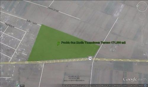 san martín texmelucan terreno industrial comercial 171000 m2