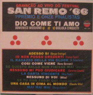 san remo 66 - gravação ao vivo do festival