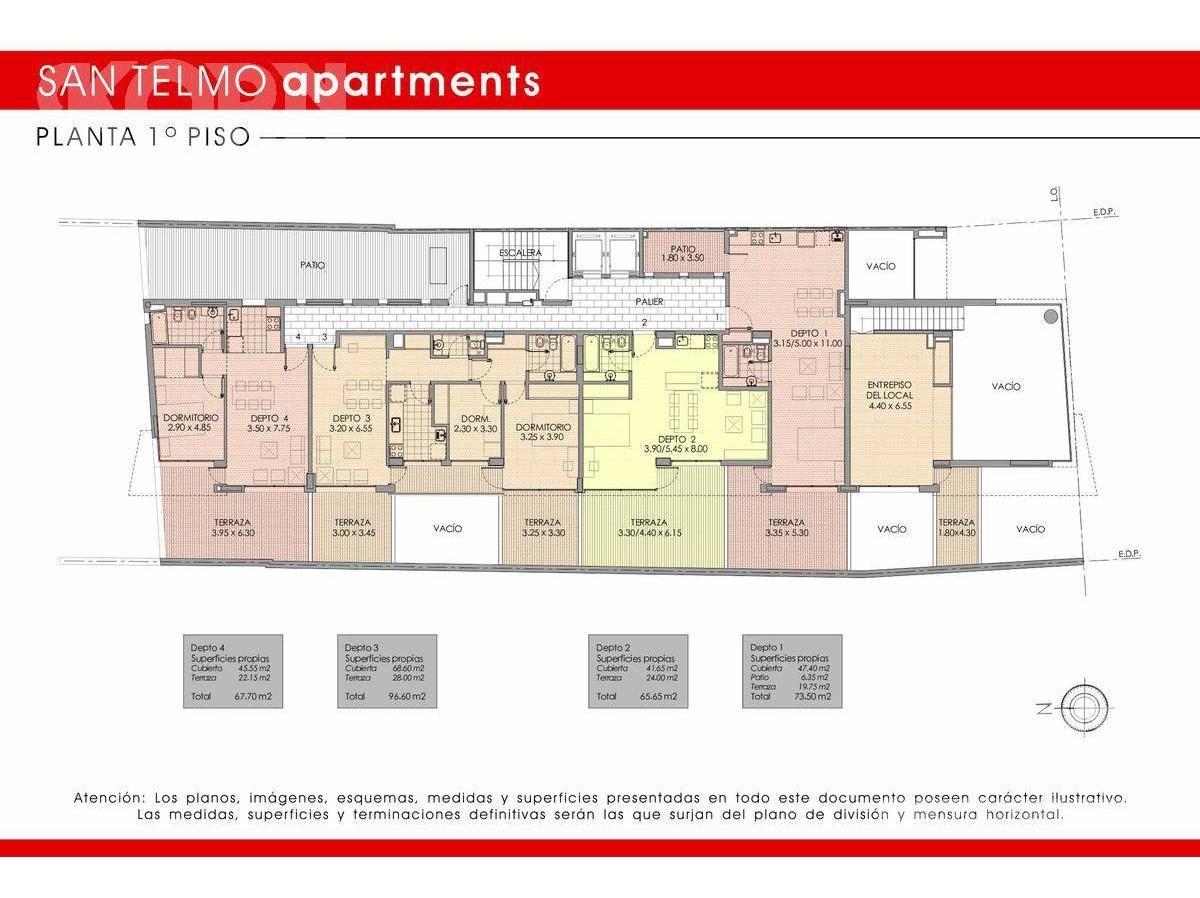 san telmo - departamento en venta de 1 ambiente apto profesional en construcción
