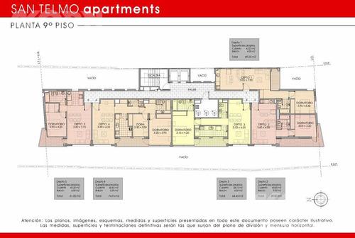 san telmo - departamento en venta de 2 ambiente apto profesional en construcción.