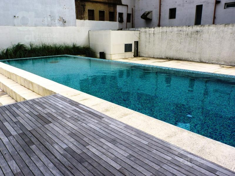 san telmo - gran monoambiente dividido- piscina - sum - alquiler temporario sin garantía-