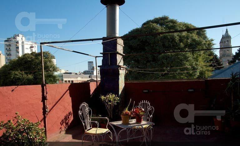 san telmo. ph 2 ambientes y medio con terraza con en  alquiler temporario