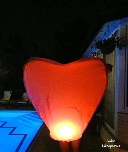 san valentín! corazón aerostático. globo de los deseos