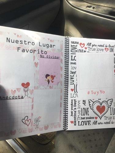 san valentín cuaderno del amor
