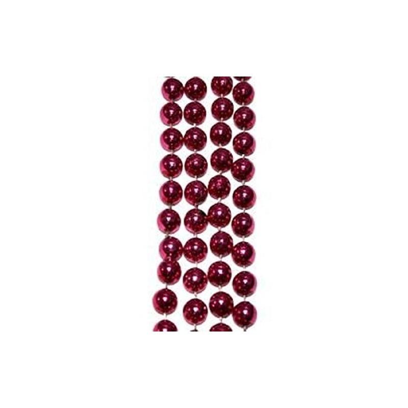 San Valentín, Mardi Gras, Collar De Perlas De Color Rosa Met ...