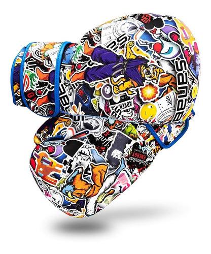sanabul sticker bomb guantes boxeo adulto entrenamiento 10oz