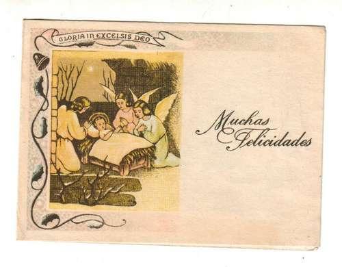 sanatorio maritimo 1970 - viña del mar - tarjeta navidad