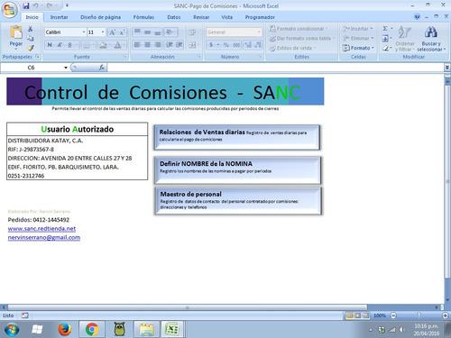 sanc plus - control de pago por comisiones