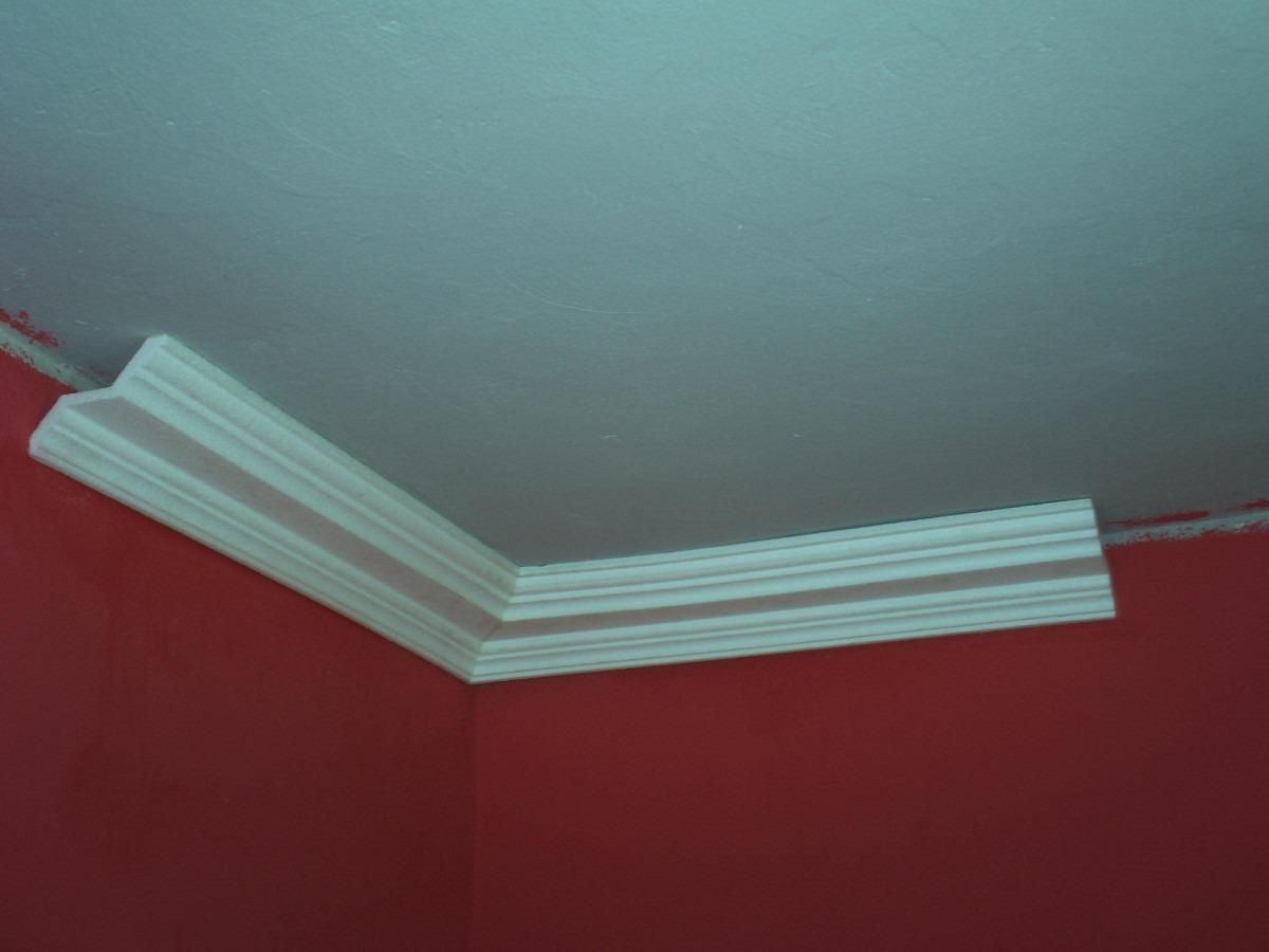 Sanca De Isopor Substitui Gesso P Spot Mod F10 9 Metros R 206  -> Sancas De Gesso Para Sala Fotos