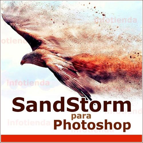 sand storm para photoshop filtro plugin acción diseño arena