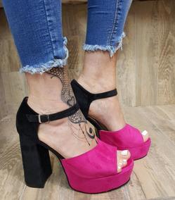 Sandalia Alto 1649 Zapato Taco Plataforma Stampa Woman Mujer EDH9I2