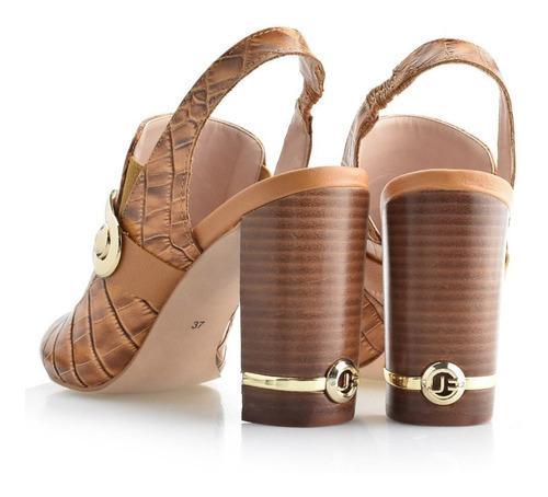 sandália aberta atrás de couro jorge bischoff j21054031