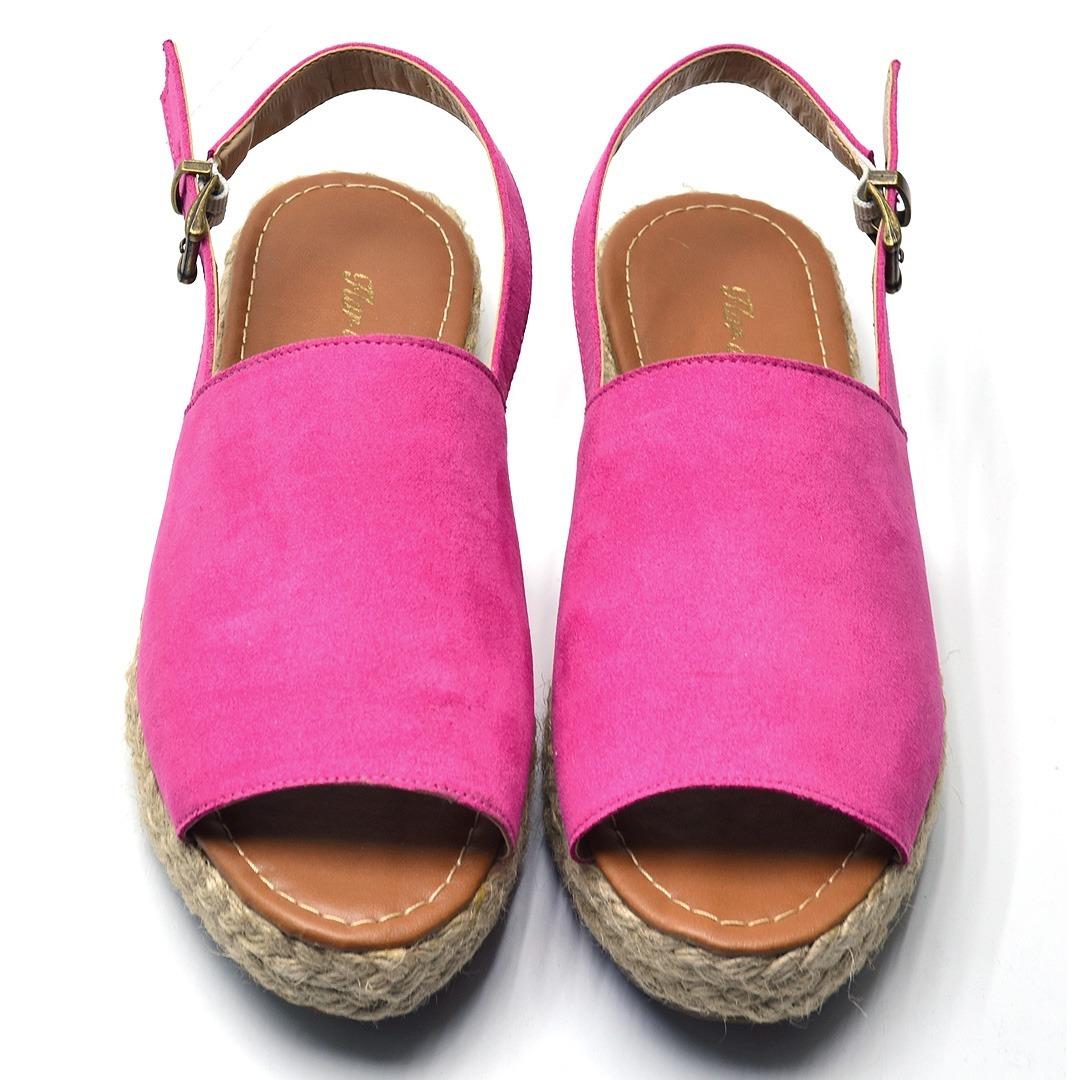 25eb600de7 sandália aberta salto grosso alpargata preta e rosa lindas. Carregando zoom.