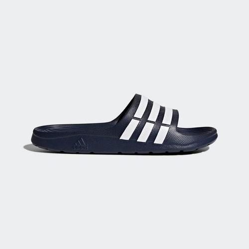 sandalia adidas duramo slide color azul  baño
