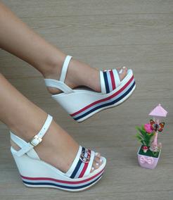 Plataforma Blanca Moda Para Mujer Alta Dama Sandalia Chicas 1FJlcTK