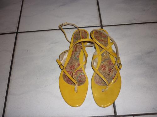 sandália amarela tam. 38 carolina castro