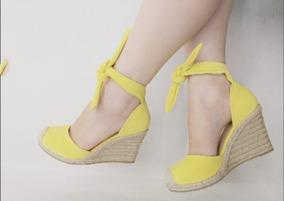 e29510f7cb Sapato Anabela Amarelo - Sapatos no Mercado Livre Brasil