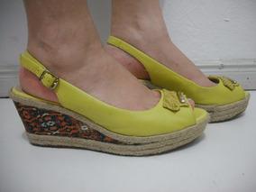 34e390ae44 Sapato Anabela Da Bottero - Sapatos Amarelo no Mercado Livre Brasil